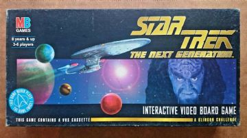 Star Trek Interactive  Video Board Game By MB (1994)